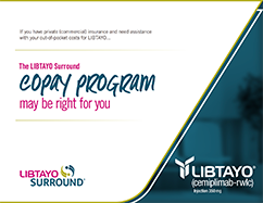 LIBTAYO Surround® copay program brochure
